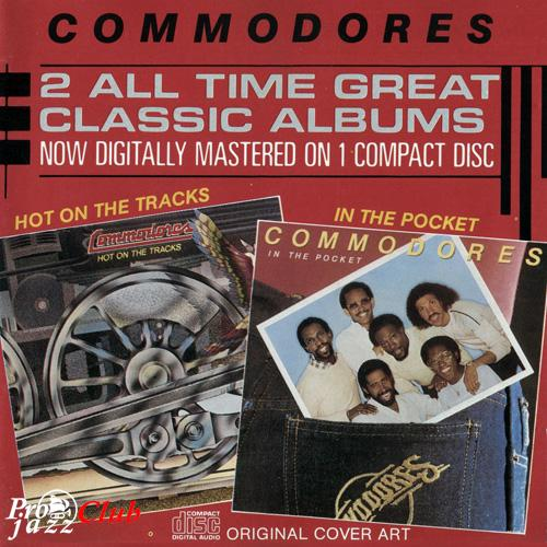 (Funk, Soul) [CD] Commodores - Hot On The Tracks / In The Pocket - 1986, FLAC (image+.cue), lossless
