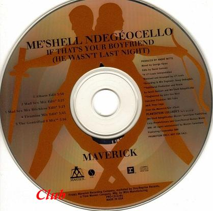 (Jazzy Hip Hop,Funk,New Jack Swing,R&B,House) [CDS] Me'Shell NdegéOcello (Meshell Ndegeocello) ‎– If That's Your Boyfriend (He Wasn't Last Night)[PROMO] - 1993, FLAC (image+.cue), lossless